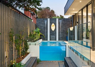 small courtyard swimming pools