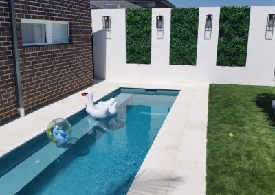 narrow pool design for small yards