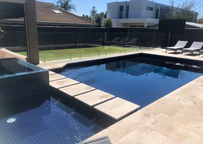 concrete tiled pool